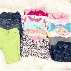 14 Pcs Bundles Baby Girls Various Clothes 3-24 MOS